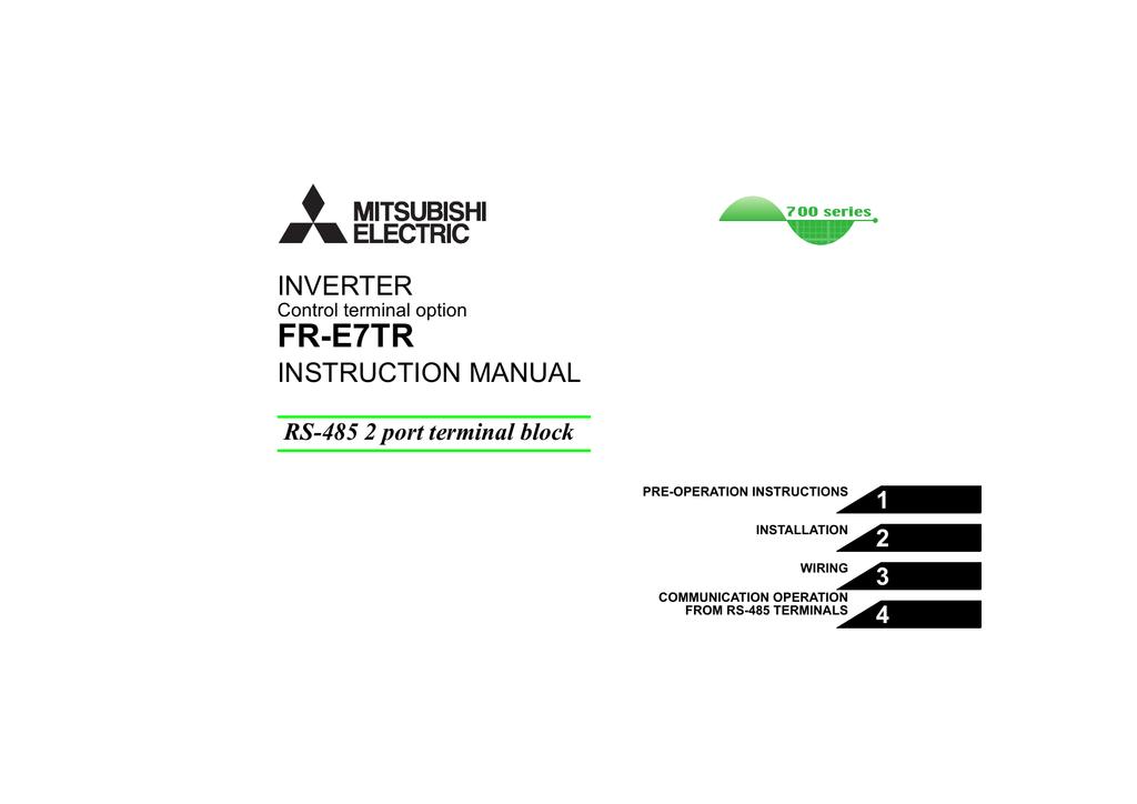 Fr E7tr Inverter Instruction Manual 1 Manualzz