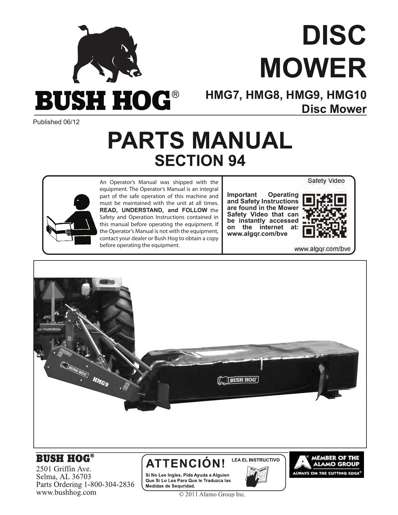 DISC MOWER PARTS MANUAL SECTION 94 | manualzz com