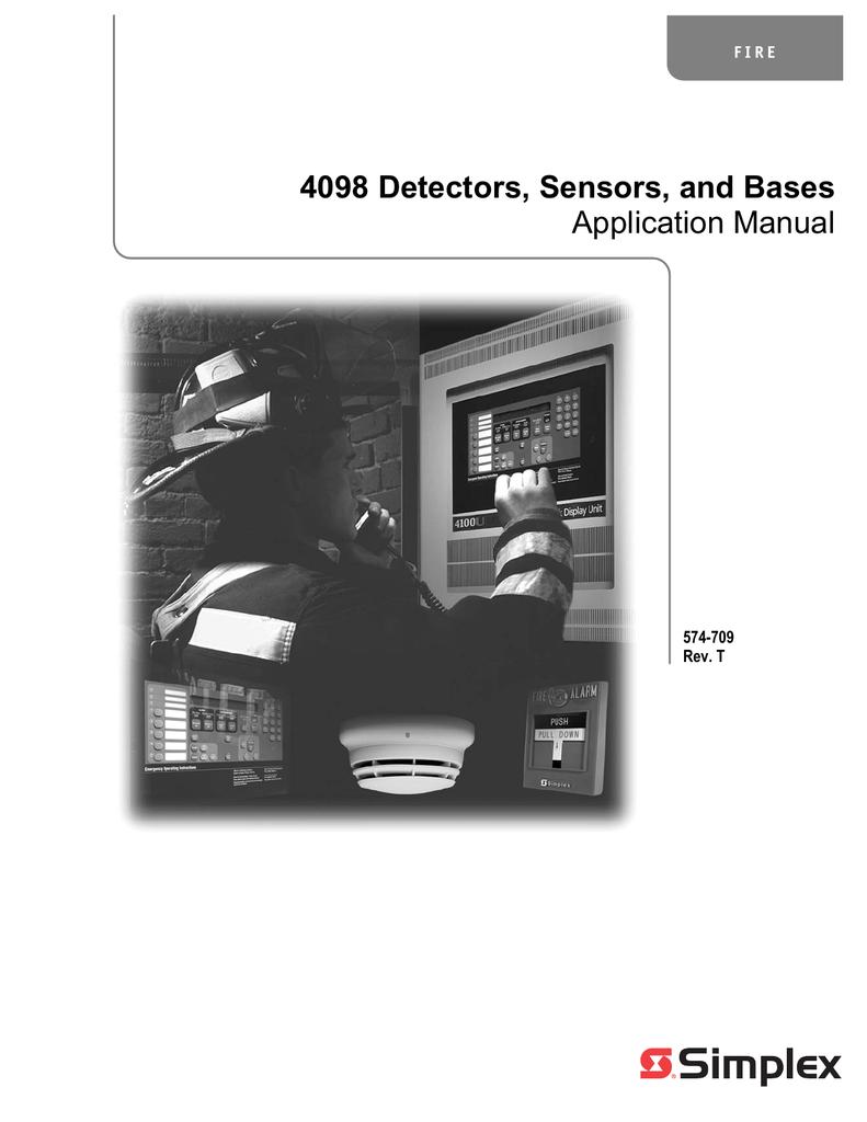 Simplex 4098 Detector Application Manual | manualzz com