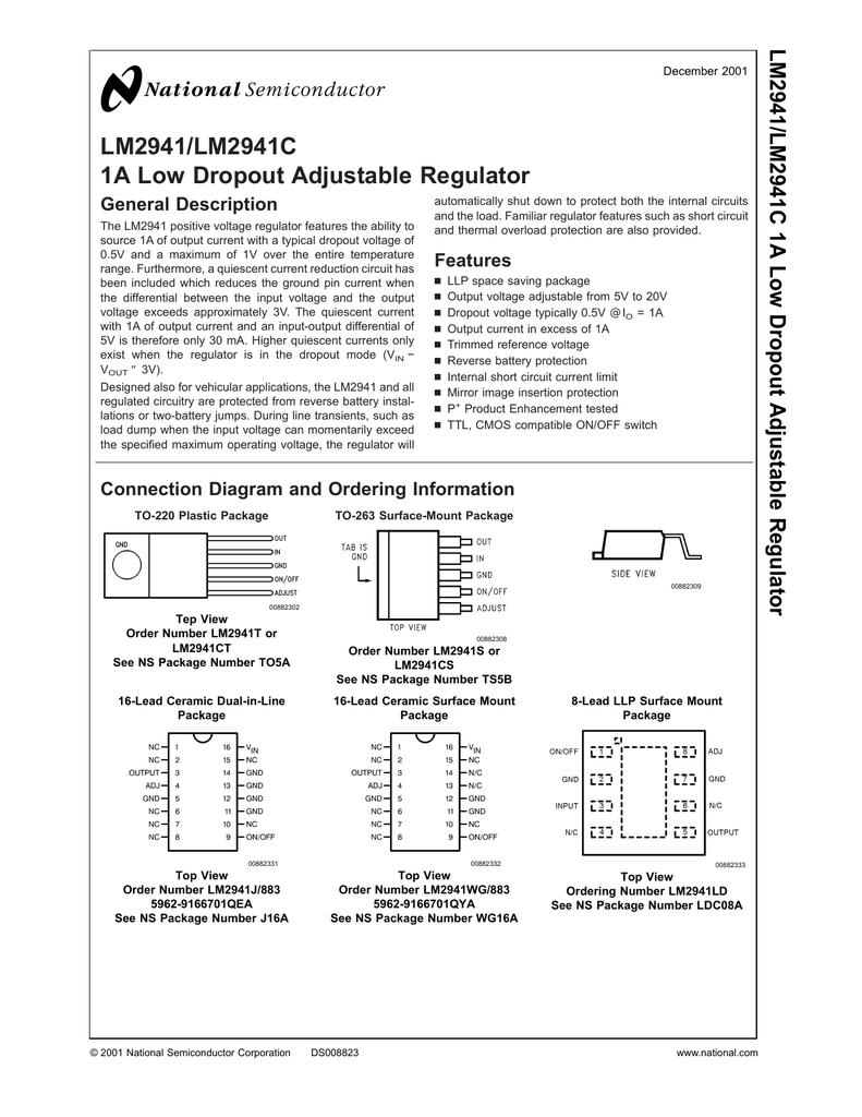 5 PCS LM2941S TO-263 LM2941 Adjustable Regulator
