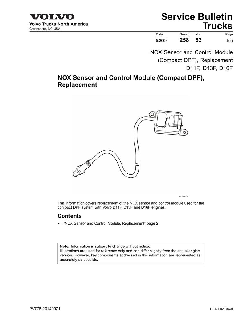Nox Sensor and Control Module Replacement Compact | manualzz com