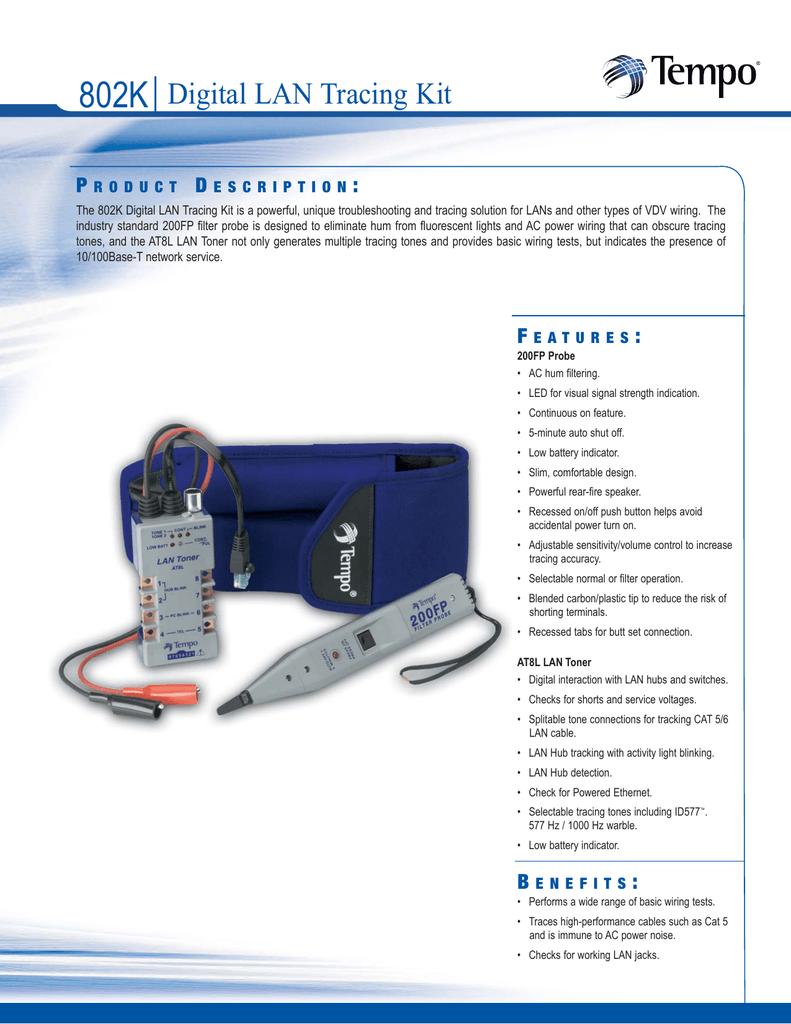 802k Digital Lan Tracing Kit P D Jack Wiring
