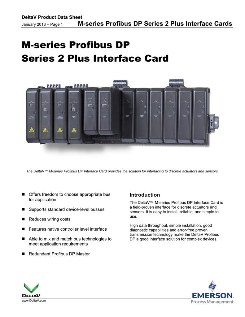 Delta V Profibus Card Wiring Diagram Diagrams Img M Series Dp 2 Plus Interface Manualzz Com Devicenet Cable