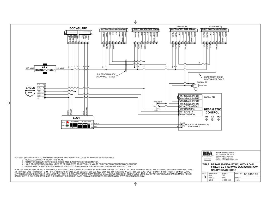BESAM ETIK LO21 Parallax 2 Q Disconnect (A) | manualzz.com on