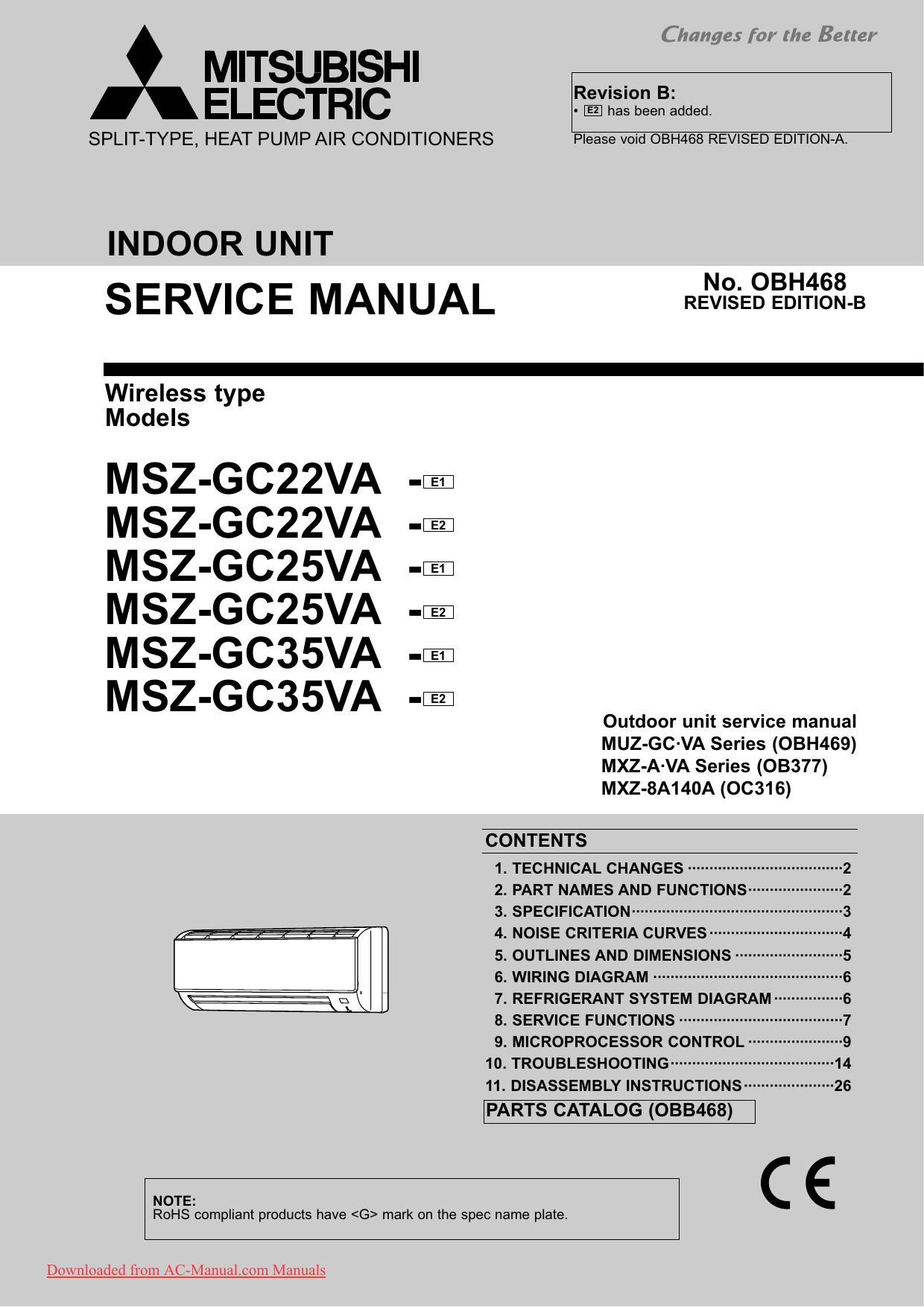 M Series Mitsubishi Split System Wiring Diagram on
