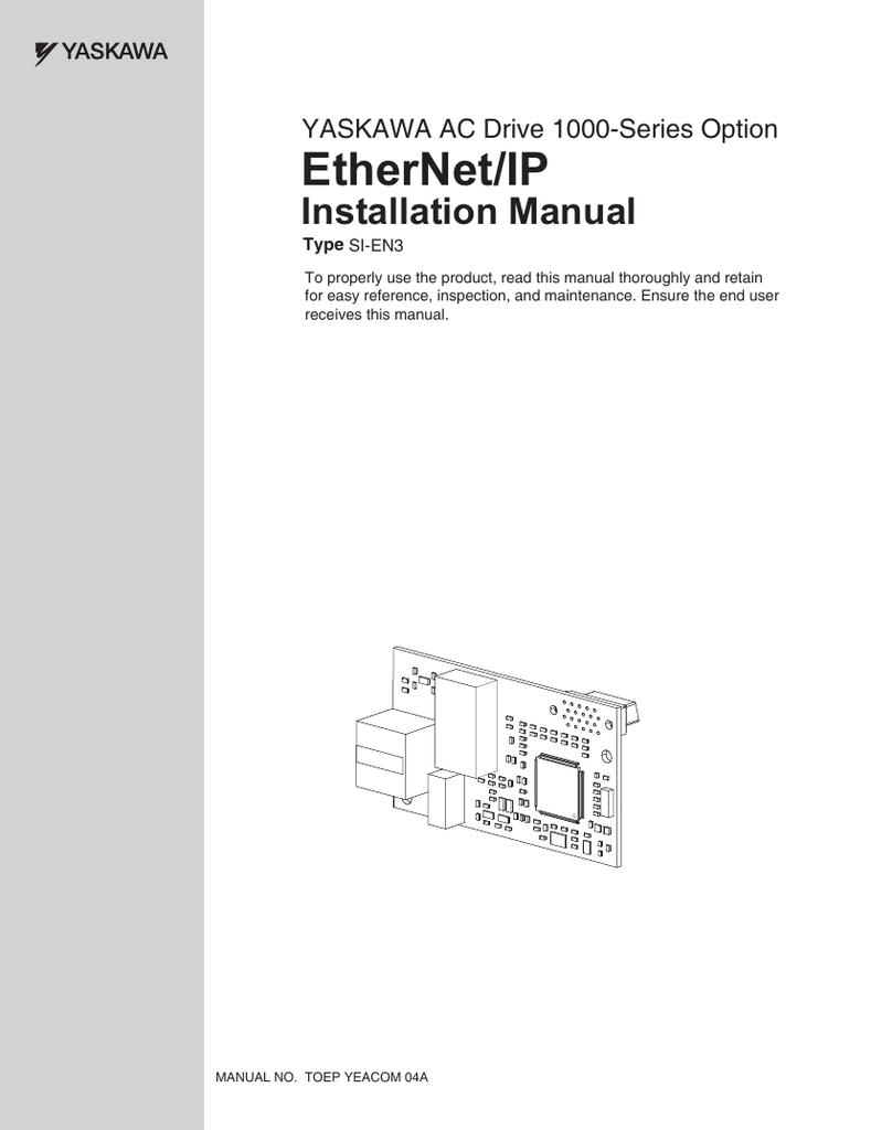 YASKAWA  SI-EN3 ETHERNET//IP AC DRIVE OPTION New