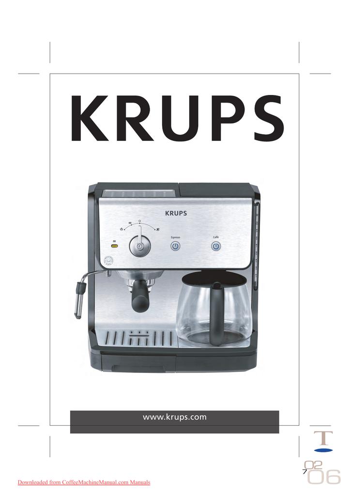 krups xp 2000 user guide manual pdf manualzz com rh manualzz com Krups Espresso Machine Coffee Maker Krups XP3.20