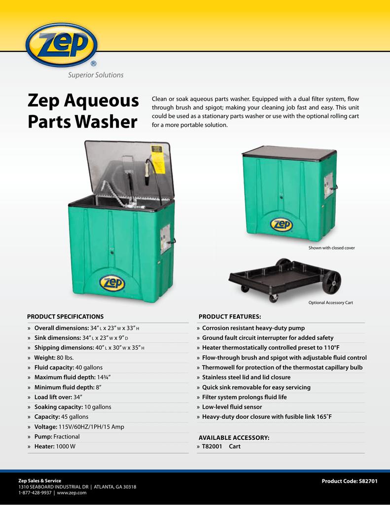 Zep Aqueous Superior Solutions | manualzz com