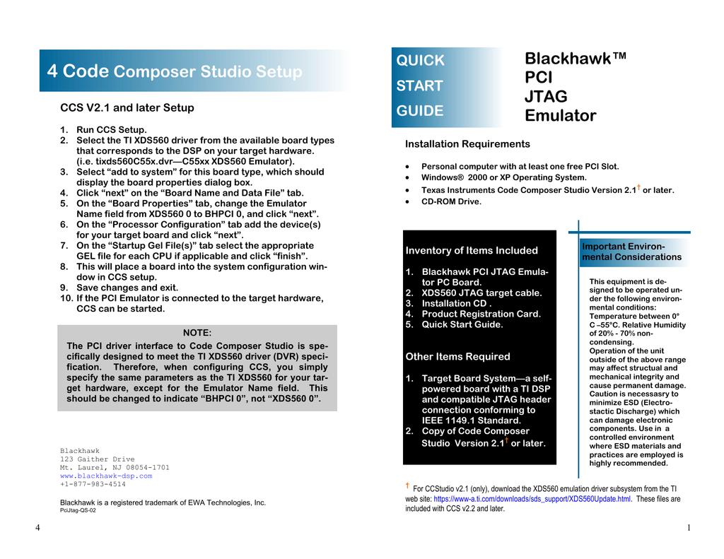 XDS560 PCI JTAG EMULATOR WINDOWS 7 X64 TREIBER
