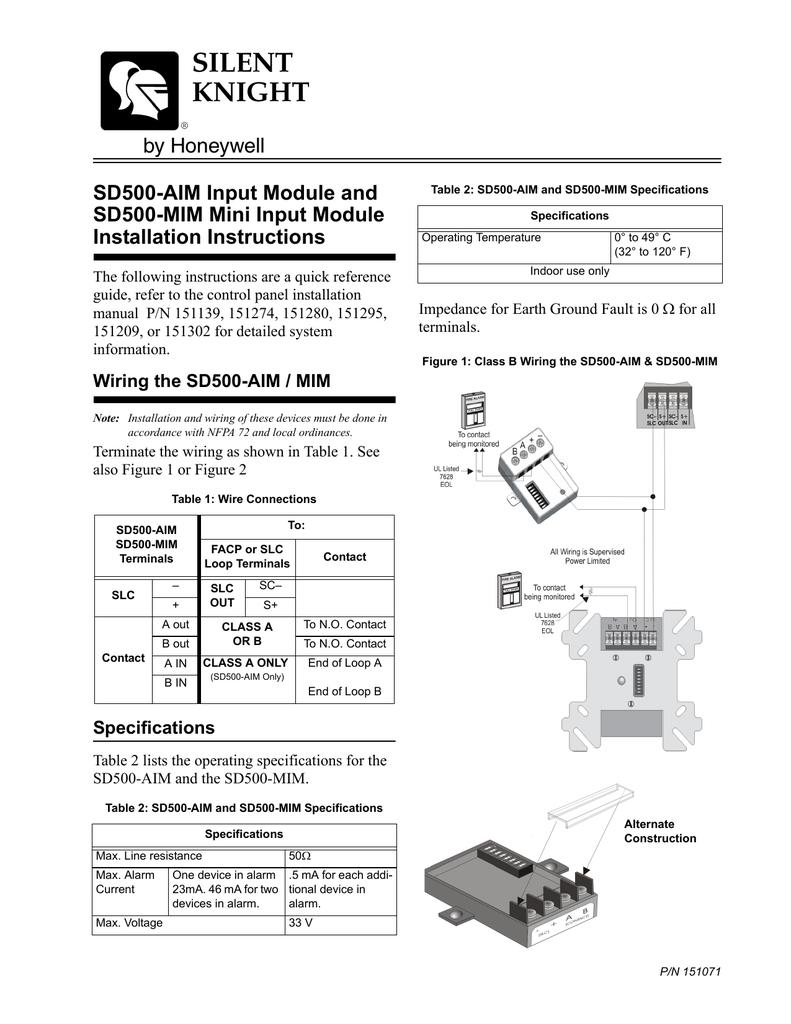 SD500-MIM Honeywell