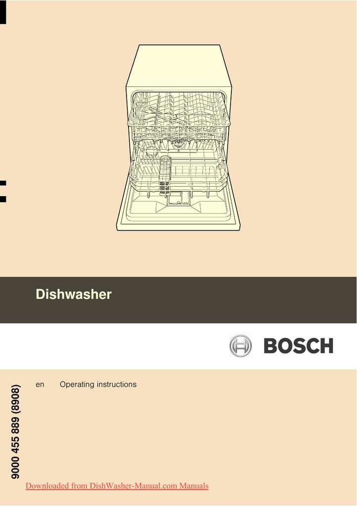 Bosch SCE 53M25 Dishwasher User Guide Manual PDF | manualzz com