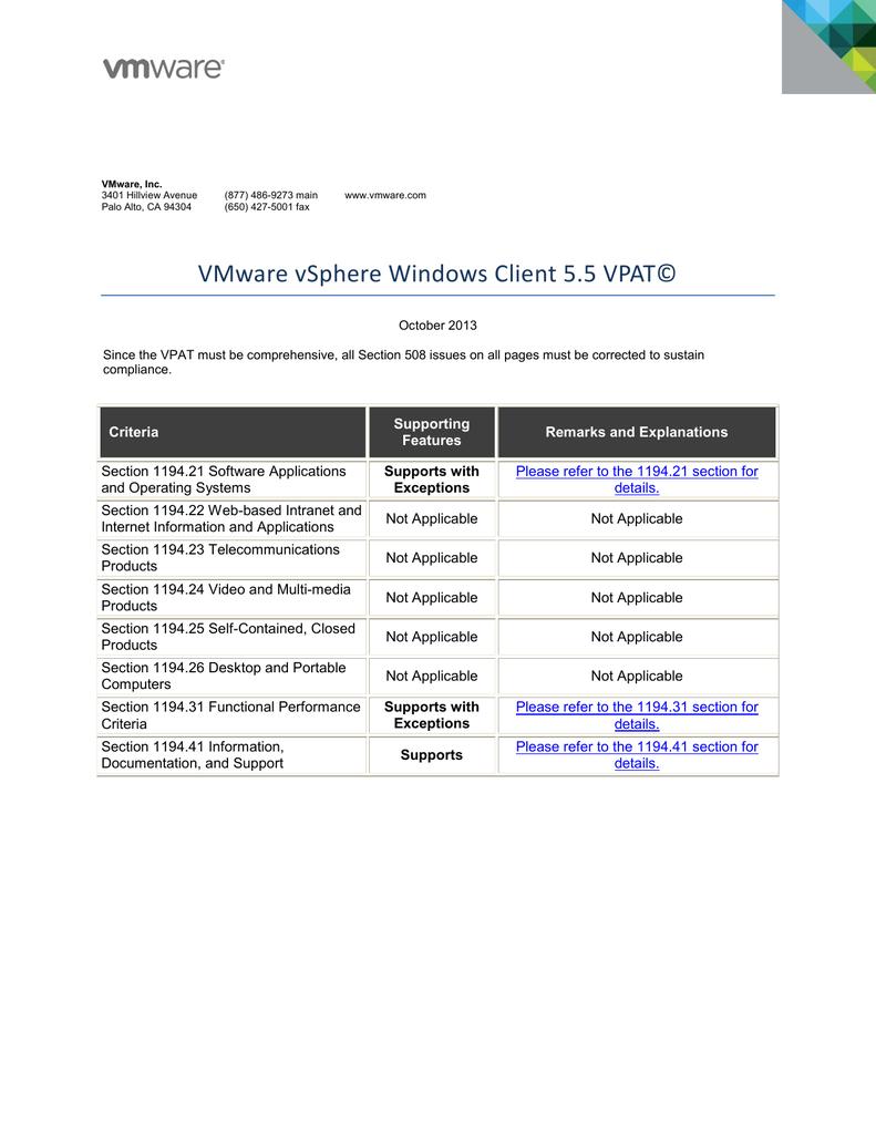 Klient syst mu Windows pro software VMware vSphere 5 5 PDF
