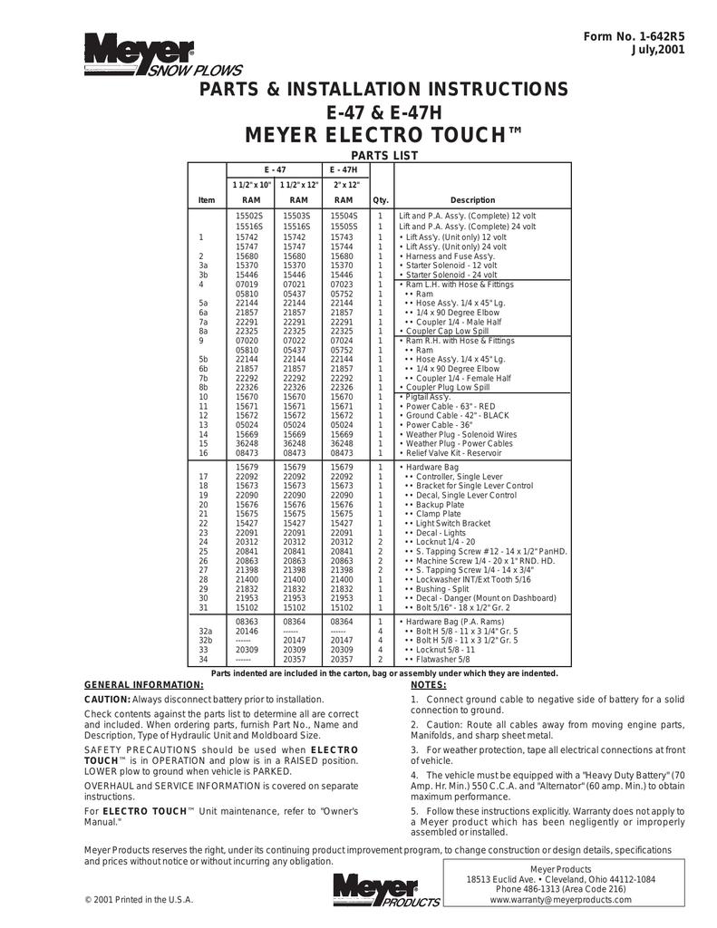 AND DECAL 22092 15680 22090 15673 Meyer SLIK STIK CONTROL w// HARNESS BRACKET