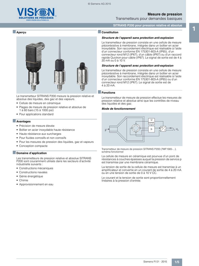 raccorder des dessins pour le transmetteur de pression