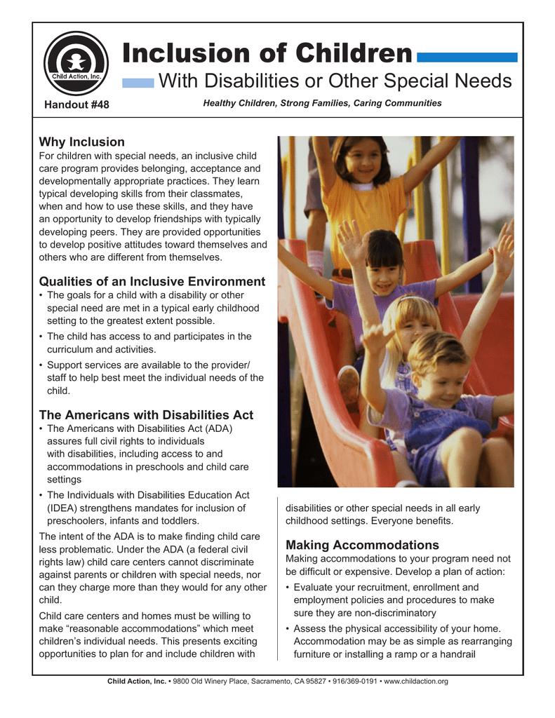 Inclusion of All Children | manualzz com
