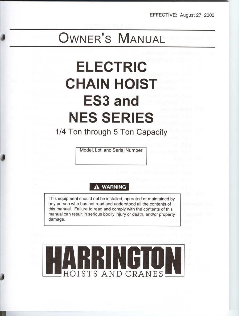 NEW HARRINGTON ES522003//01 PLUG CONNECTOR FOR PENDANT STATION