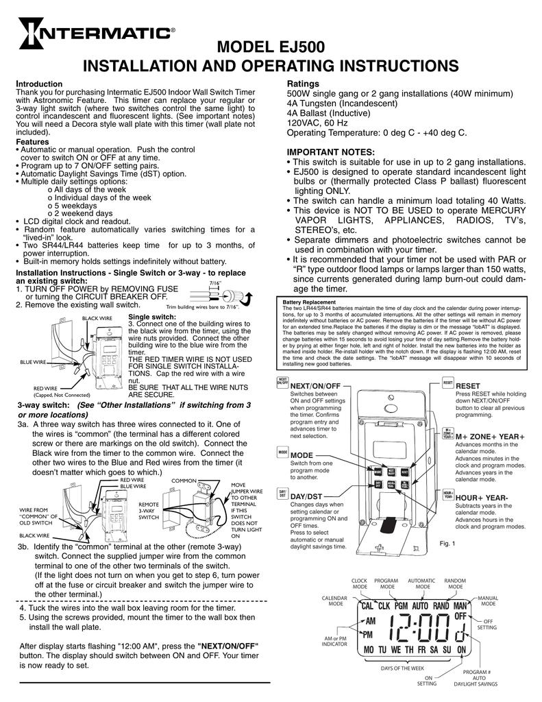 Intermatic Model Ss7 Wiring Diagram