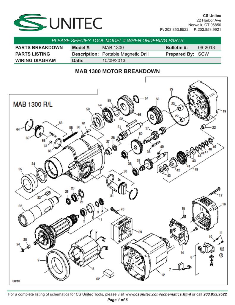 MAB 1300   manualzz.com Mag Drill Switch Wiring Diagram on