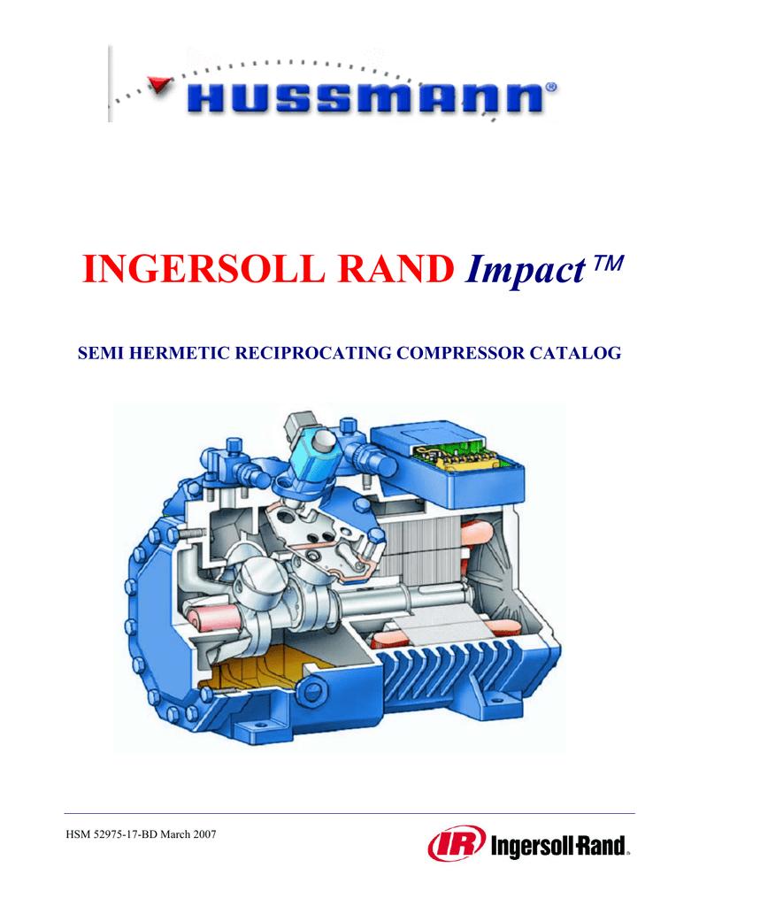 Hussmann | Ingersoll Rand Impact2 Compressors | manualzz com
