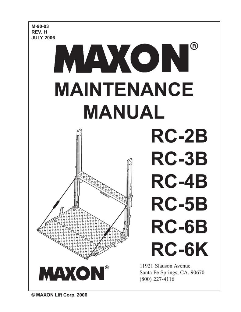 Maxon 3 Way Switch Wiring Diagram Detailed Diagrams Bmr Maintenance Manual Rc 2b 3b 4b 5b 6b Manualzz Com Gfci
