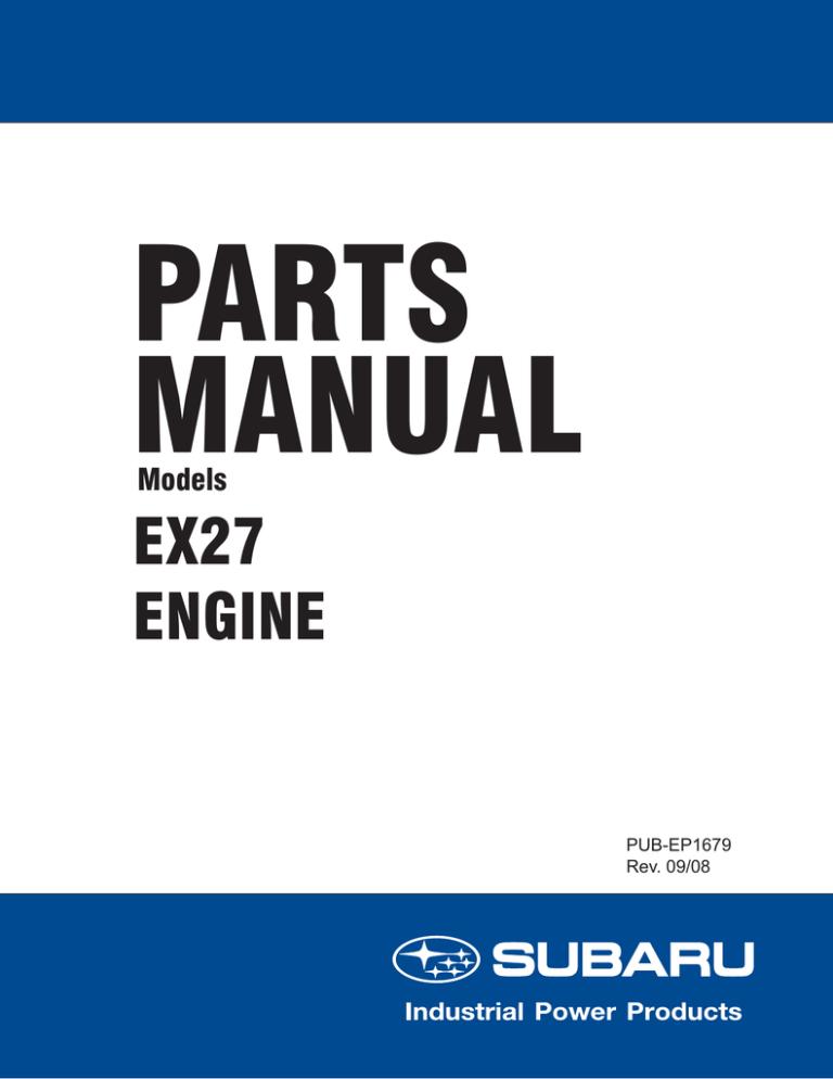 subaru 265cc parts manual | manualzz  manualzz