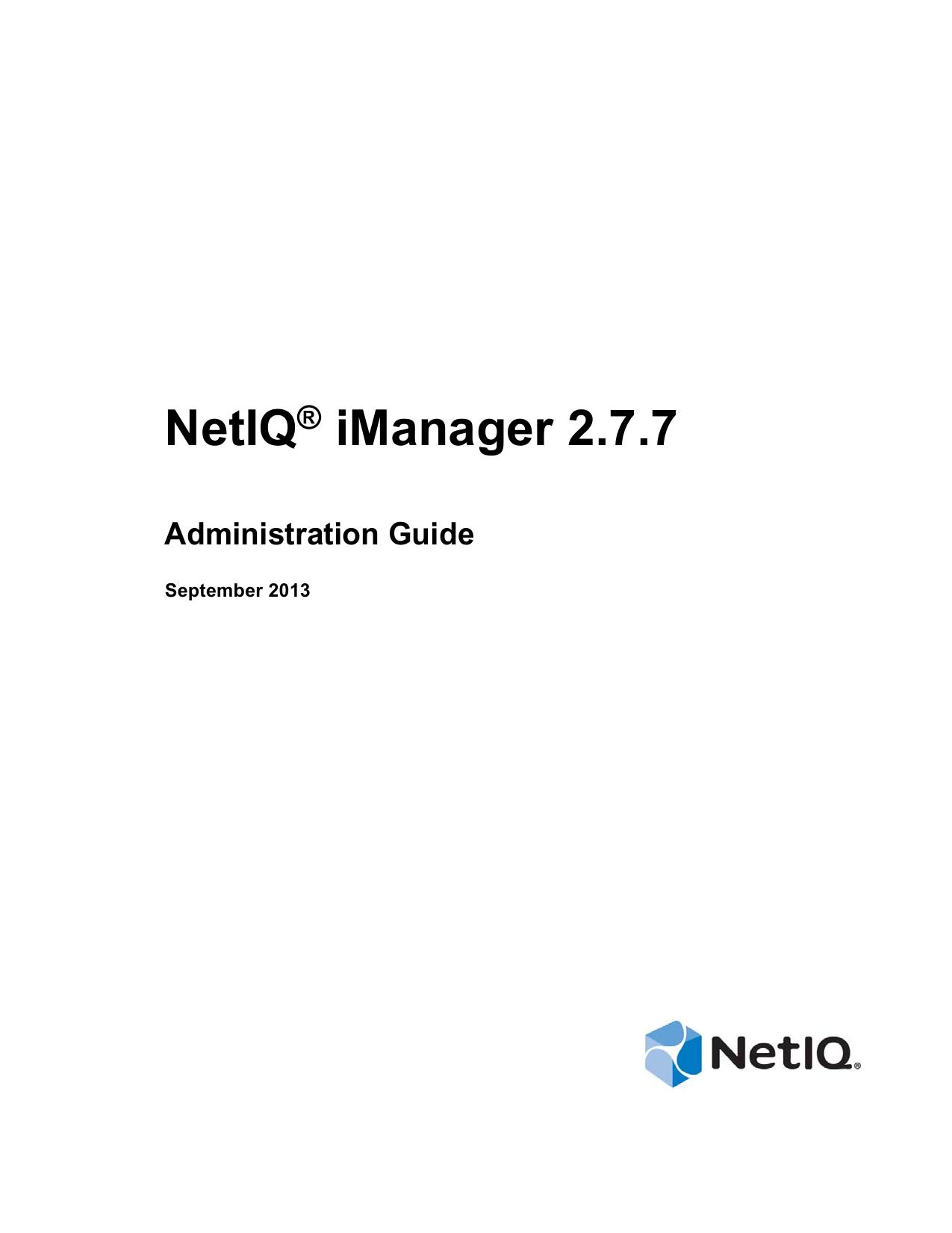 NetIQ iManager 2 7 7 ® Administration Guide | manualzz com
