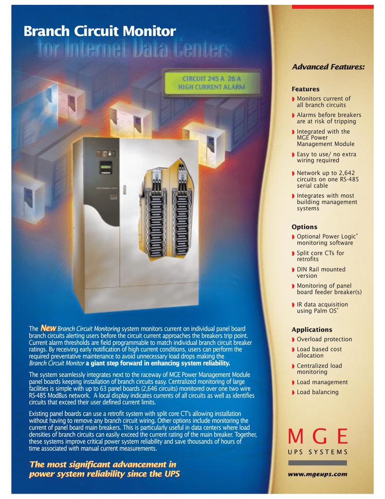 Branch Circuit Monitoring System Brochure | manualzz.com