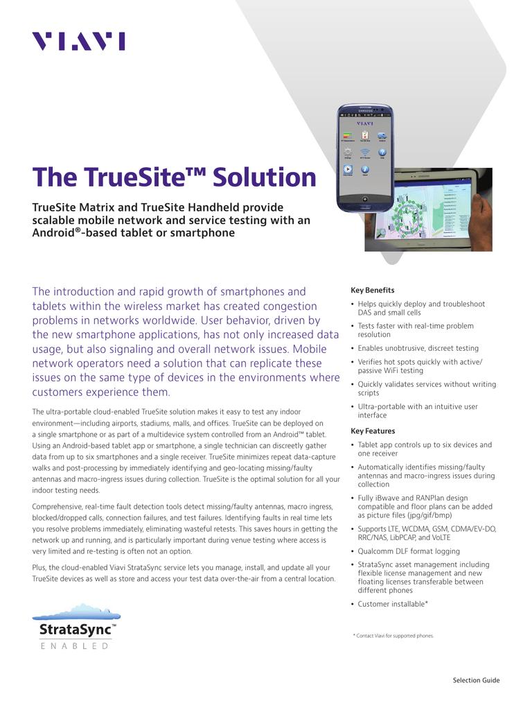 The TrueSite™ Solution: TrueSite Matrix and TrueSite
