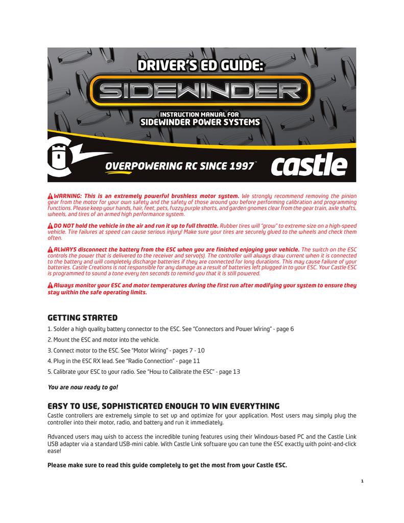 Sidewinder Driver's Ed Guide | manualzz com