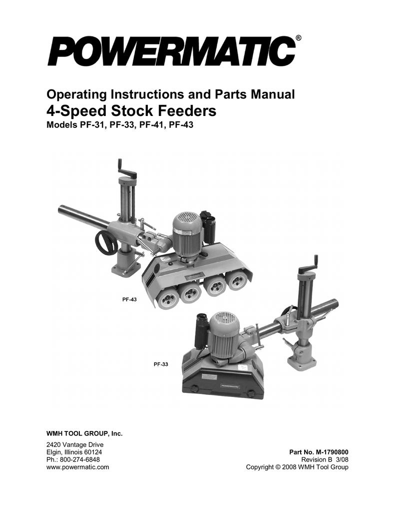 Tools & Home Improvement Powermatic 1790812K Model PF-41 1 HP 1 ...