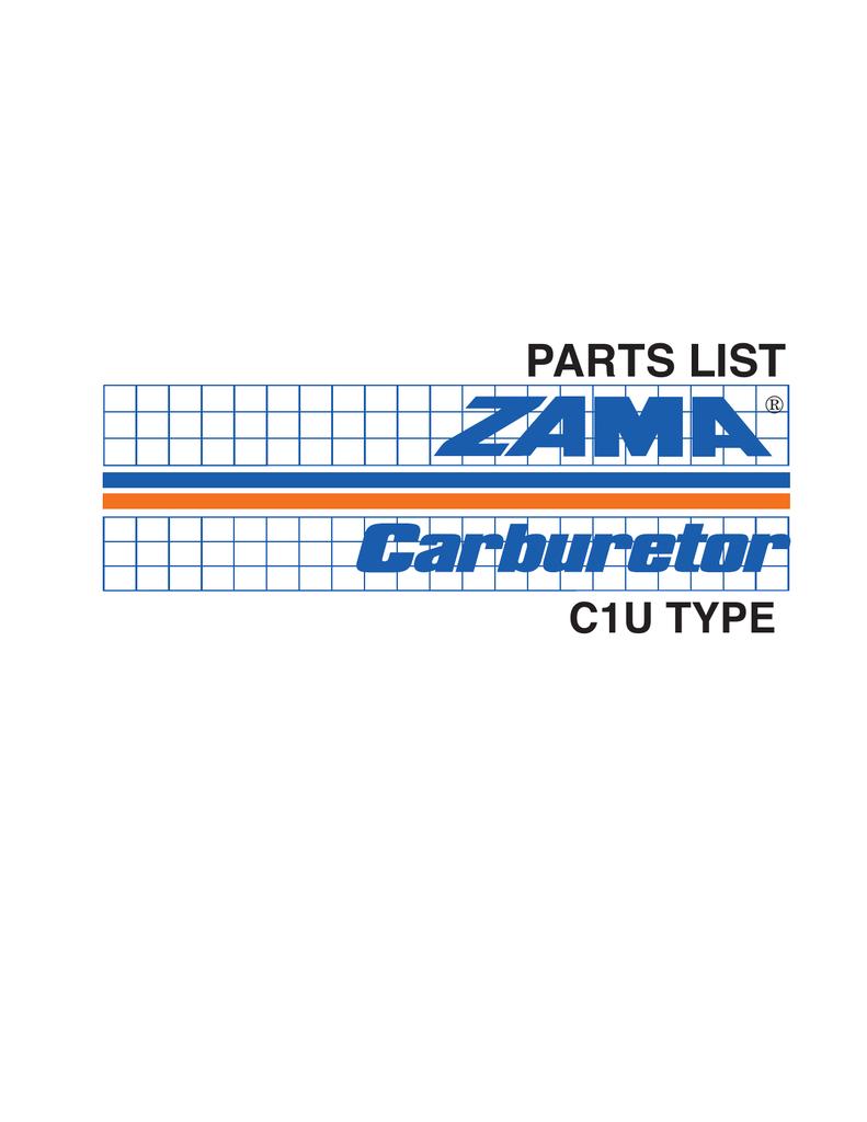 CARBURETOR REPAIR KIT FOR ZAMA RB-121 C1U-K20 C1U-K21 C1U-K26 C1U-K29 CARBS