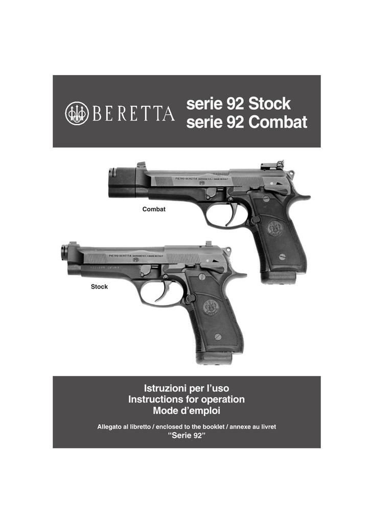 Beretta 92 Combat   manualzz com