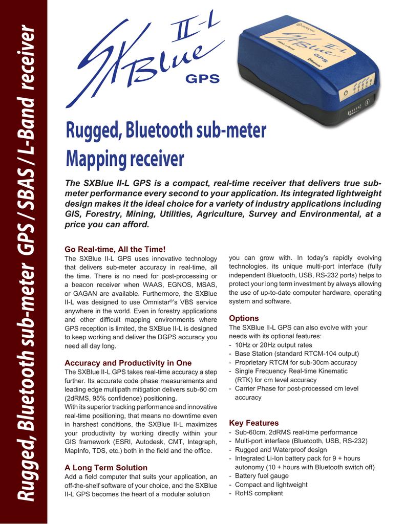 Geneq SXBlue II-L GPS Receiver Specifications | manualzz com