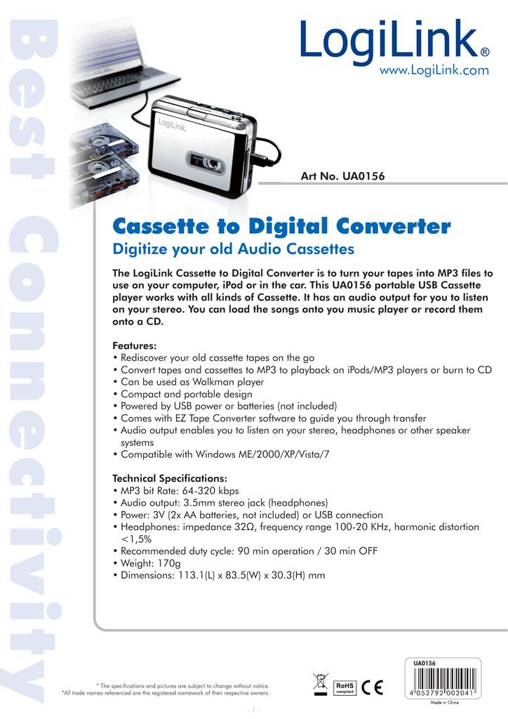 Best Connectivit Cassette to Digital Converter Digitize your old