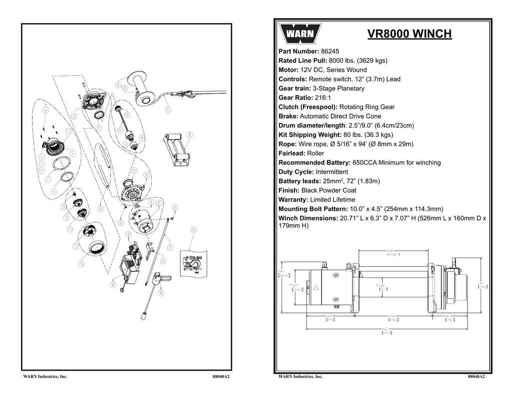 Warn Vr8000 Wiring Diagram