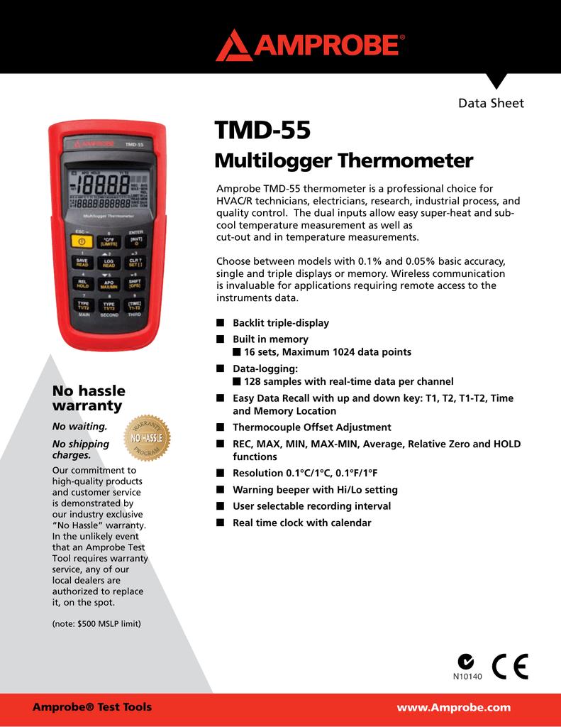 Amprobe TMD-56 K// J-type Multilogger Thermometer