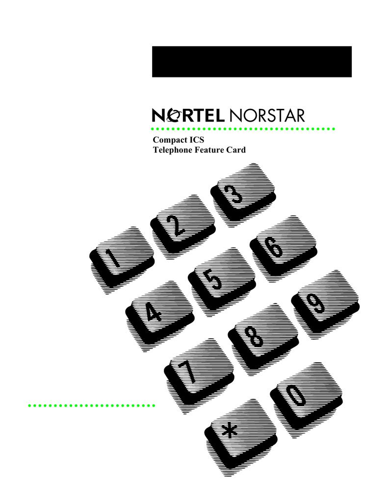 Nortel Norstar Modular ICS Telephone Feature Card   manualzz com