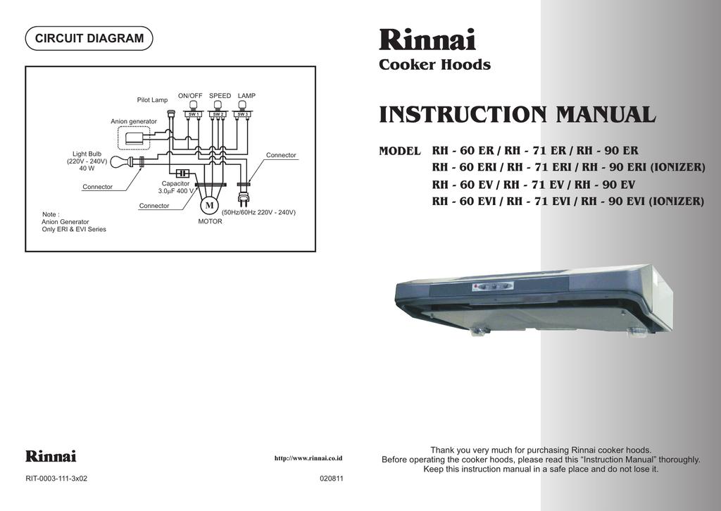instruction manual cooker hoods circuit diagram  manualzz
