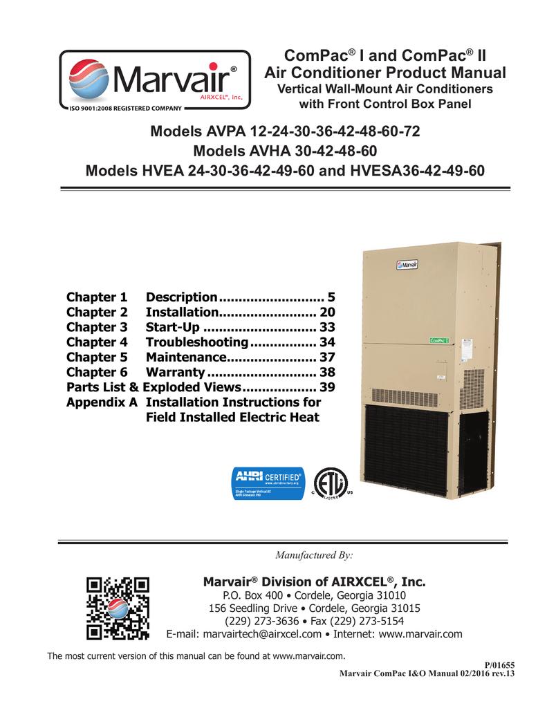 compac i and compac ii air conditioner product manual manualzz com rh manualzz com marvair hvac wiring diagram