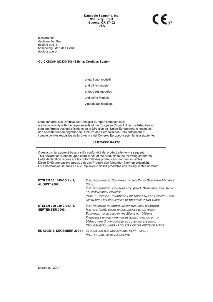 QM2100 - certyfikat DoC | manualzz com
