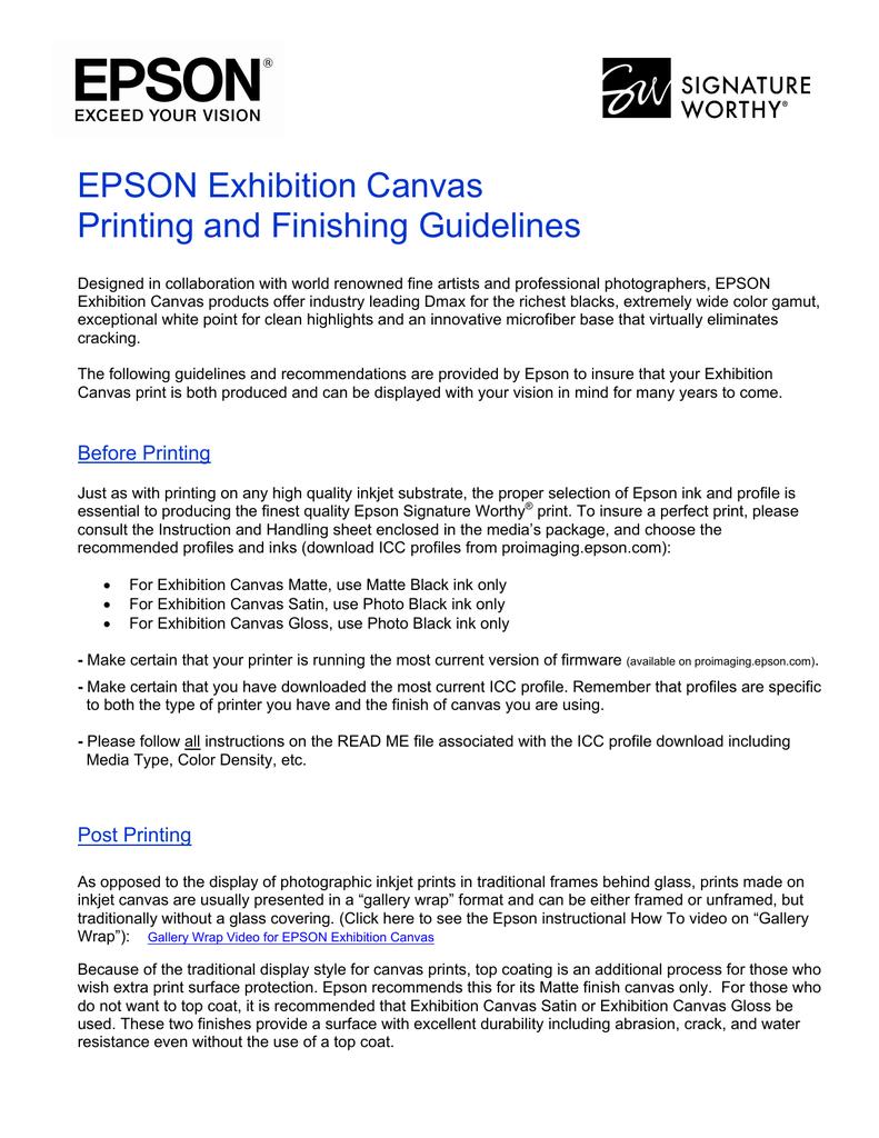 Epson Exhibition Canvas   manualzz com