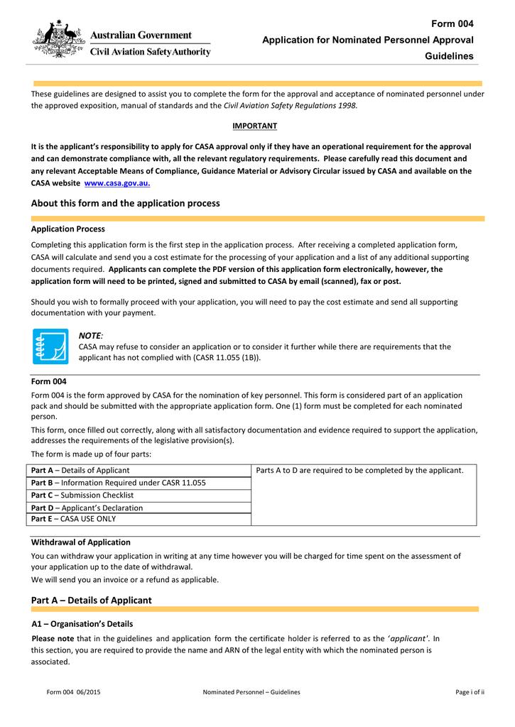 Form 4 Nominated Personnel | manualzz com