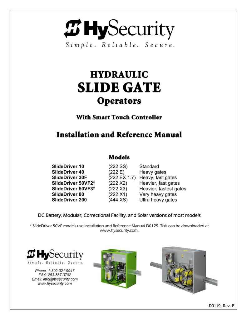 HySecurity SlideDriver Gate Operator Manual   Manualzz   Hysecurity Wiring Diagram      manualzz