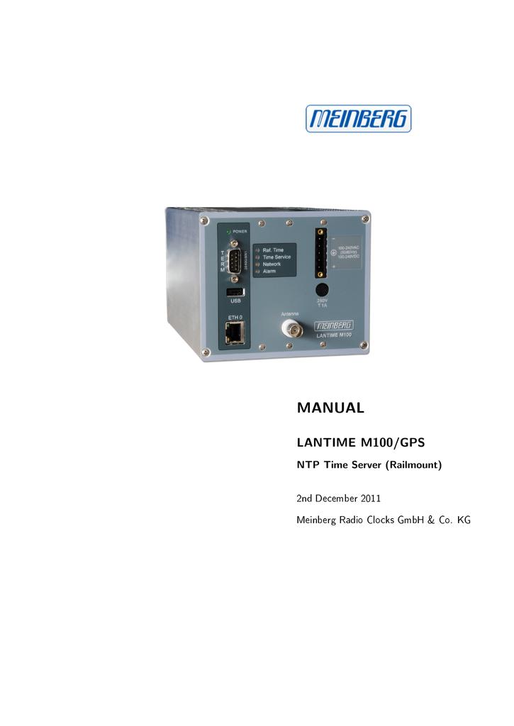 MANUAL LANTIME M100/GPS NTP Time Server (Railmount) 2nd
