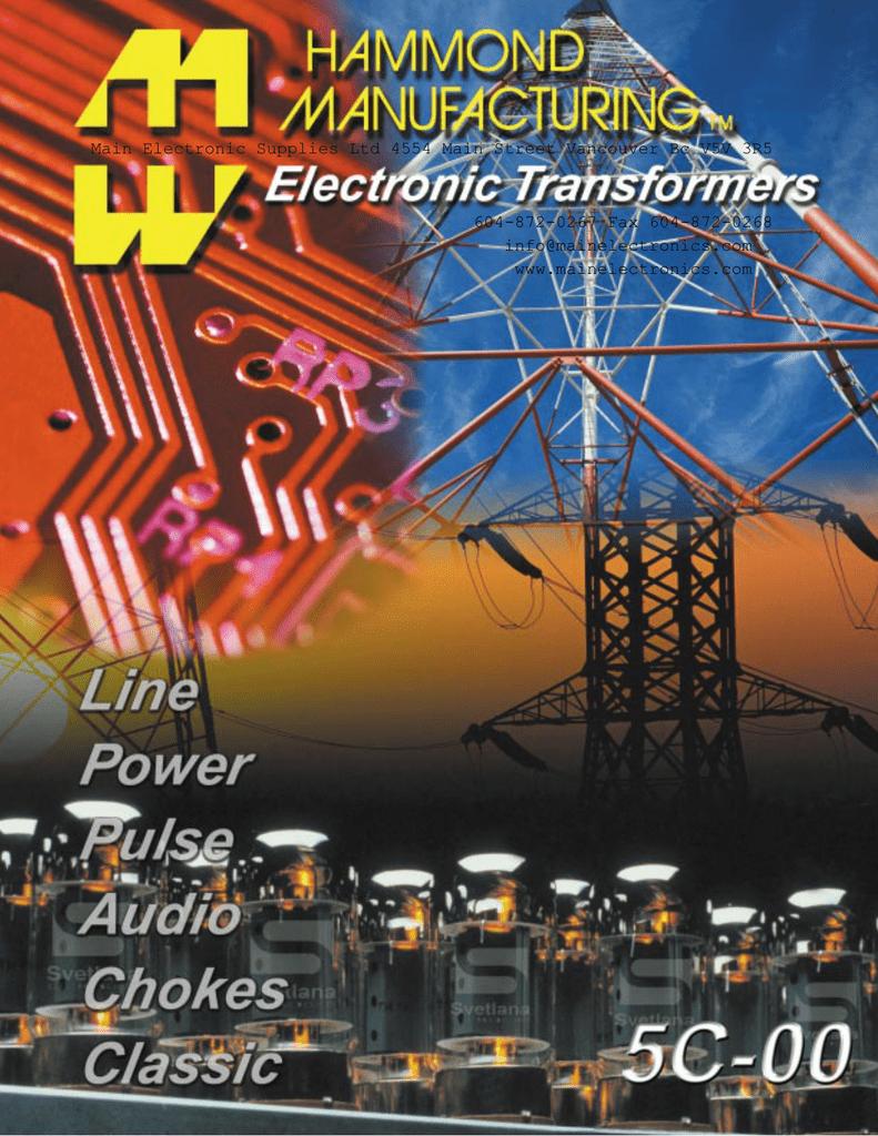Hammond Transformer Catalog 7.3Meg | manualzz.com on