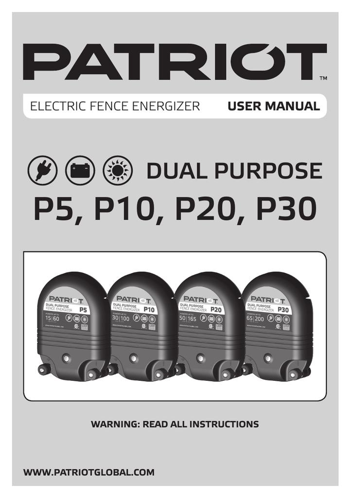 Patriot P5, P10, P20, P30 (EN, ES, PT, FR, DE, NL, SV, DA ...