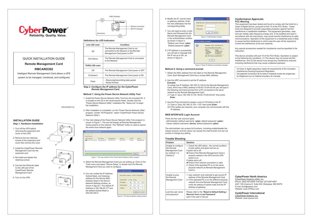CyberPower GU RMCARD302   manualzz com
