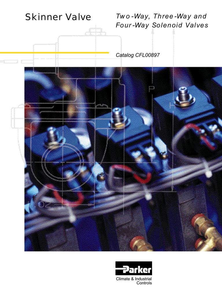 Skinner 3 Way air gas solenoid Valve MBD002 12 VDC 12V DC Honeywell