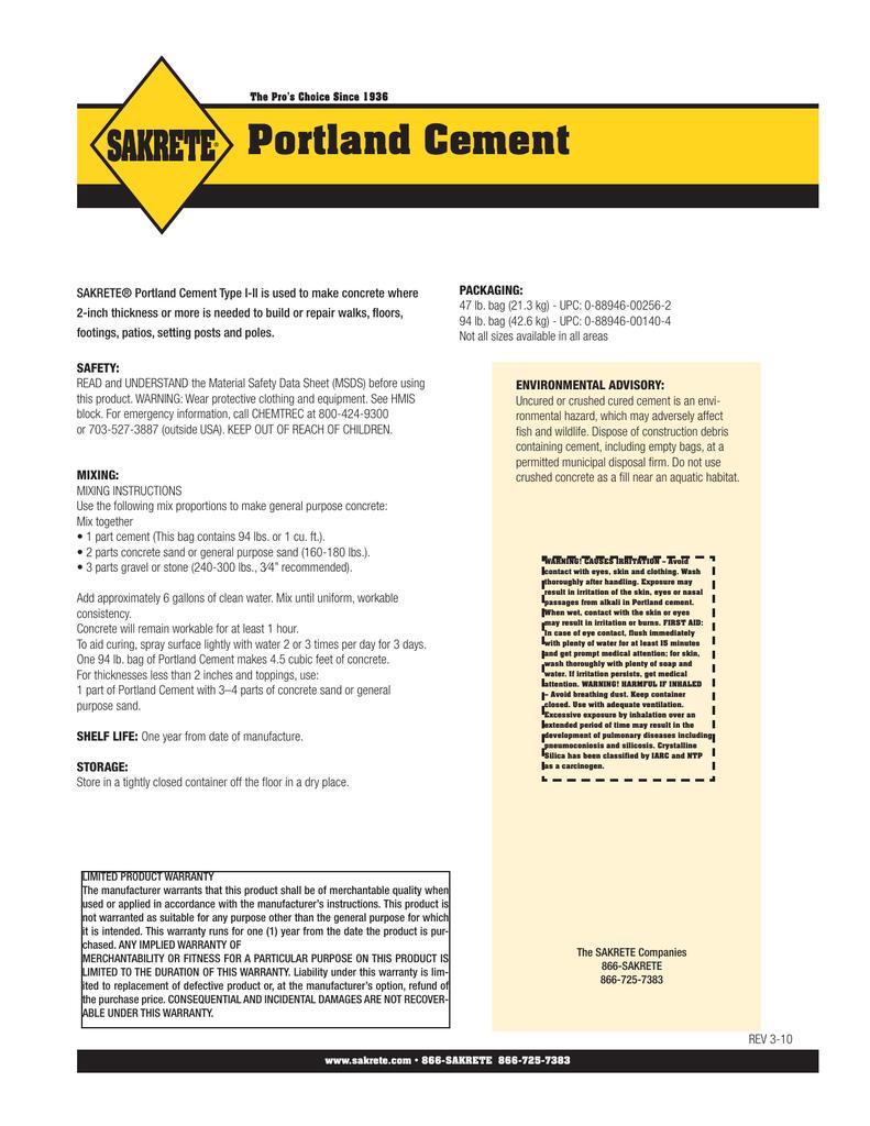 Portland Cement Manualzz