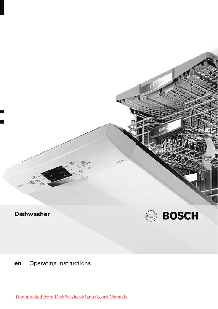Bosch Smi 40e65 Dishwasher User Guide Manual Pdf Manualzz